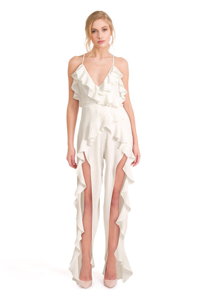 White Party Dress - Vera White Jumpsuit