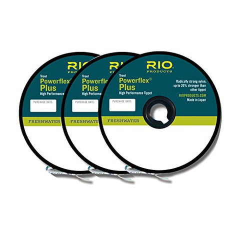 Rio Fly Fishing Tippet Power Flex-Plus Tippet 3 Pack