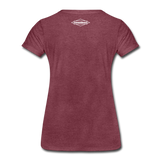 TroutBus - Salmonfly Women's Premium T-Shirt - heather burgundy
