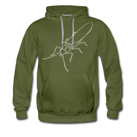 TroutBus - Salmonfly Men's Premium Hoodie - olive green