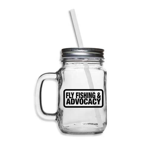 TroutBus - Advocacy Mason Jar - clear