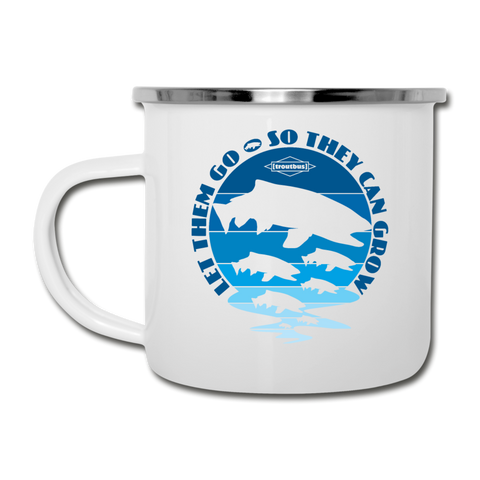 TroutBus - Let Them Grow Camper Mug - white