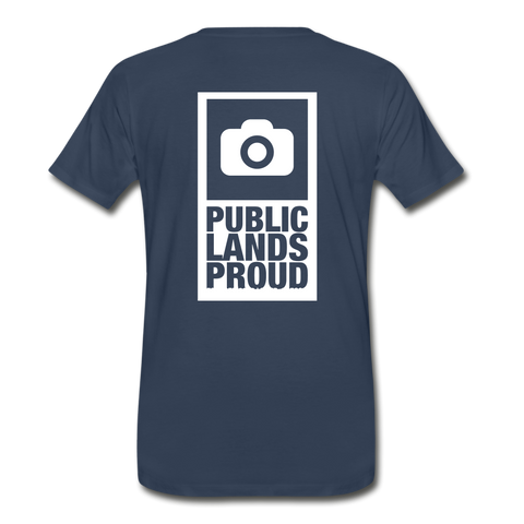 Public Lands Proud - Photography Men's Premium T-Shirt - navy