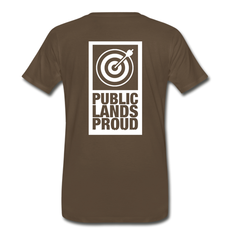 Public Lands Proud - Archery Men's Premium T-Shirt - noble brown