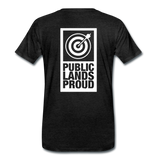 Public Lands Proud - Archery Men's Premium T-Shirt - charcoal gray