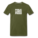 Public Lands Proud - Archery Men's Premium T-Shirt - olive green