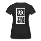 Public Lands Proud - Hiking Women's Premium T-Shirt - black