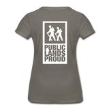 Public Lands Proud - Hiking Women's Premium T-Shirt - asphalt gray