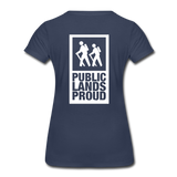 Public Lands Proud - Hiking Women's Premium T-Shirt - navy
