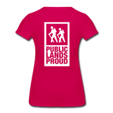 Public Lands Proud - Hiking Women's Premium T-Shirt - dark pink