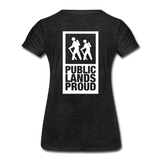 Public Lands Proud - Hiking Women's Premium T-Shirt - charcoal gray