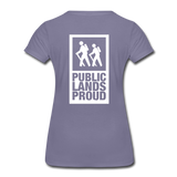 Public Lands Proud - Hiking Women's Premium T-Shirt - washed violet