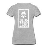 Public Lands Proud - Campfire Women's Premium T-Shirt - heather gray