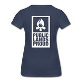 Public Lands Proud - Campfire Women's Premium T-Shirt - navy