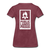 Public Lands Proud - Campfire Women's Premium T-Shirt - heather burgundy