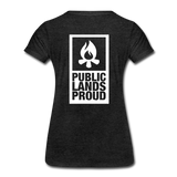 Public Lands Proud - Campfire Women's Premium T-Shirt - charcoal gray