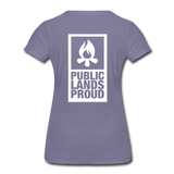 Public Lands Proud - Campfire Women's Premium T-Shirt - washed violet