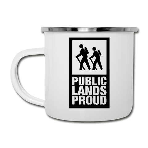Public Lands Proud - Hiking Camper Mug - white