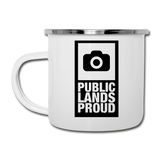 Public Lands Proud - Photography Camper Mug - white