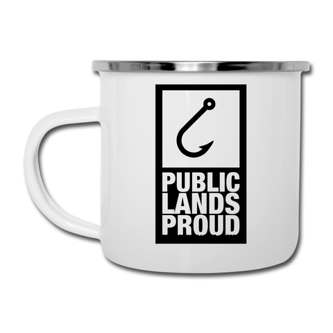 Public Lands Proud - Hook Camper Mug - white