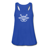 TroutBus - Pinched Women's Flowy Tank Top by Bella - royal blue