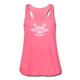 TroutBus - Pinched Women's Flowy Tank Top by Bella - neon pink