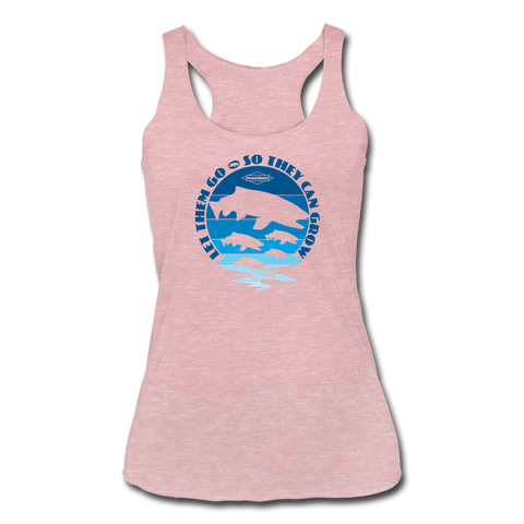 TroutBus - Let The Grow Women's Tri-Blend Racerback Tank - heather dusty rose
