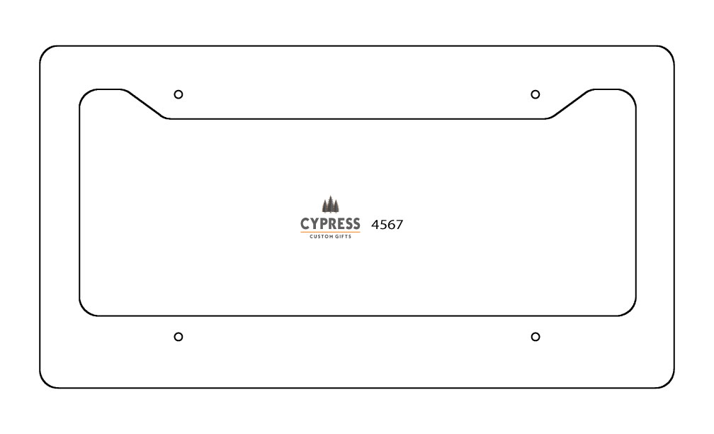 License Plate Frame- Silver Aluminum