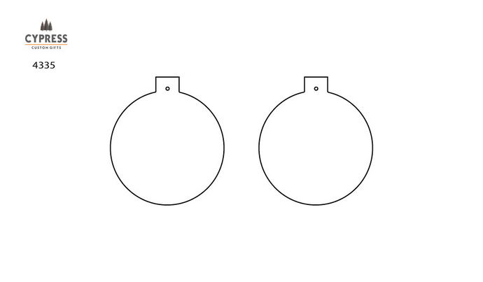 Ornaments- Aluminum 2 sided Gloss Ball