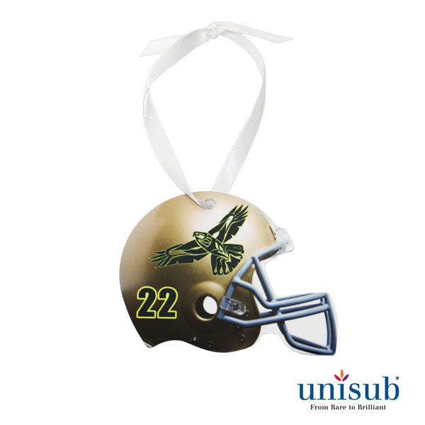 Ornaments- Aluminum 2 sided Gloss Football Helmet