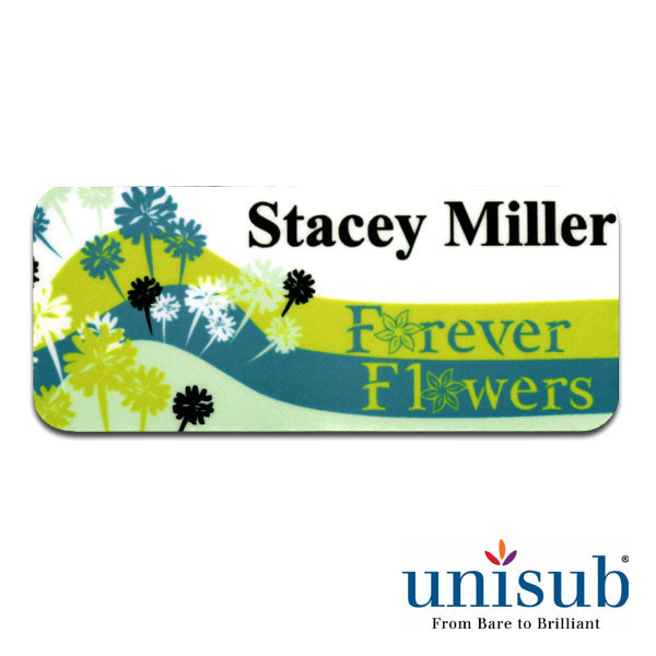Name Badge- 1.25x3 Matte Rectangle