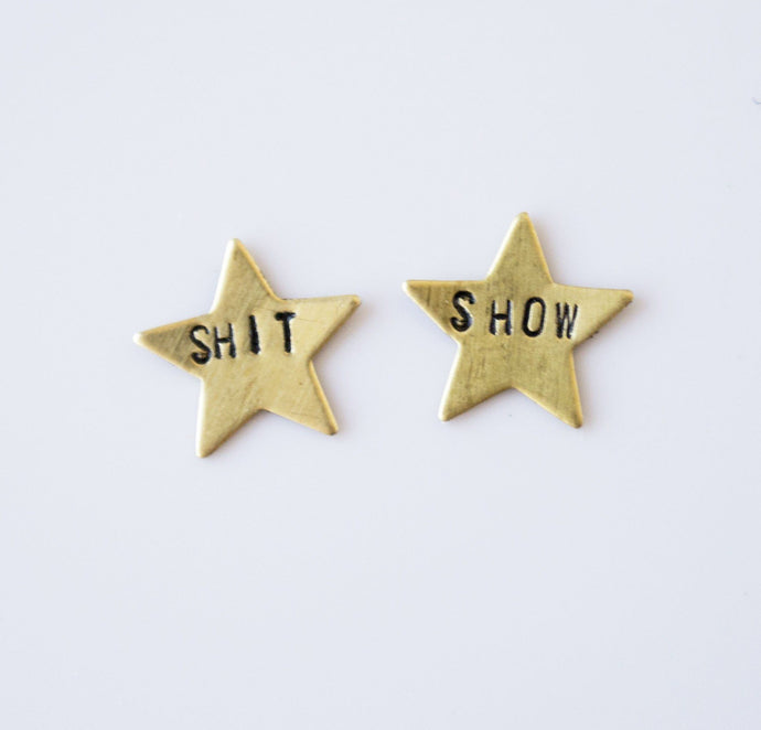 Shit Show Star Earrings