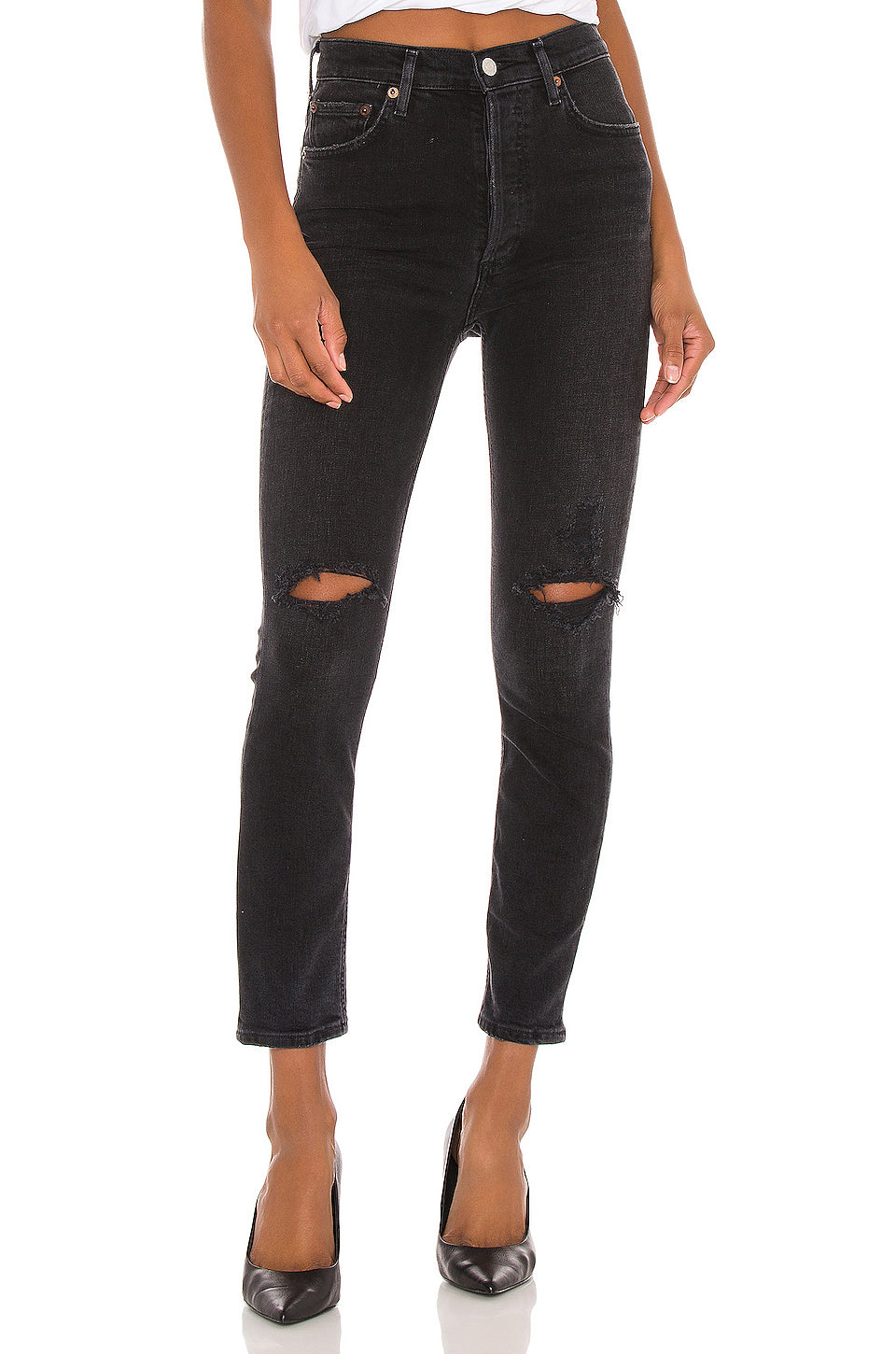 Nico High Rise Slim Fit Jean in Cassette