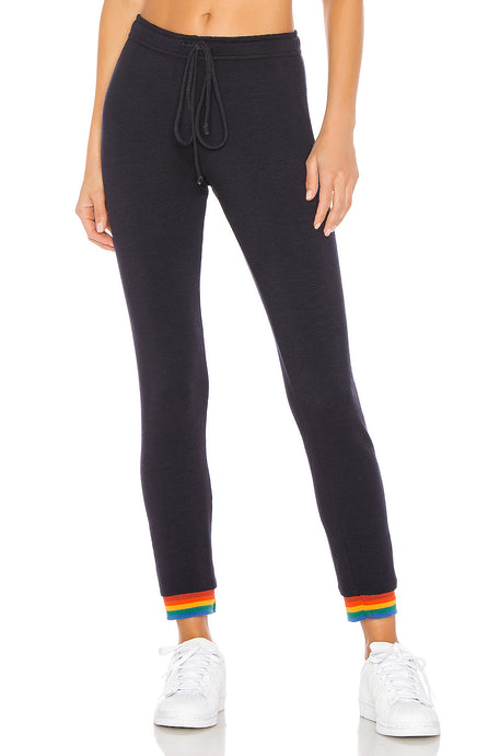 Skinny Sweats W/ Rainbow Cuff
