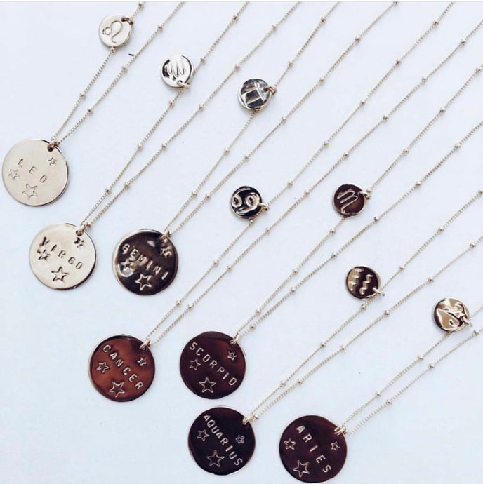 Written in the Stars Zodiac Necklace
