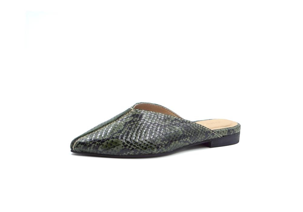 Vienna Pointy Snake Mule