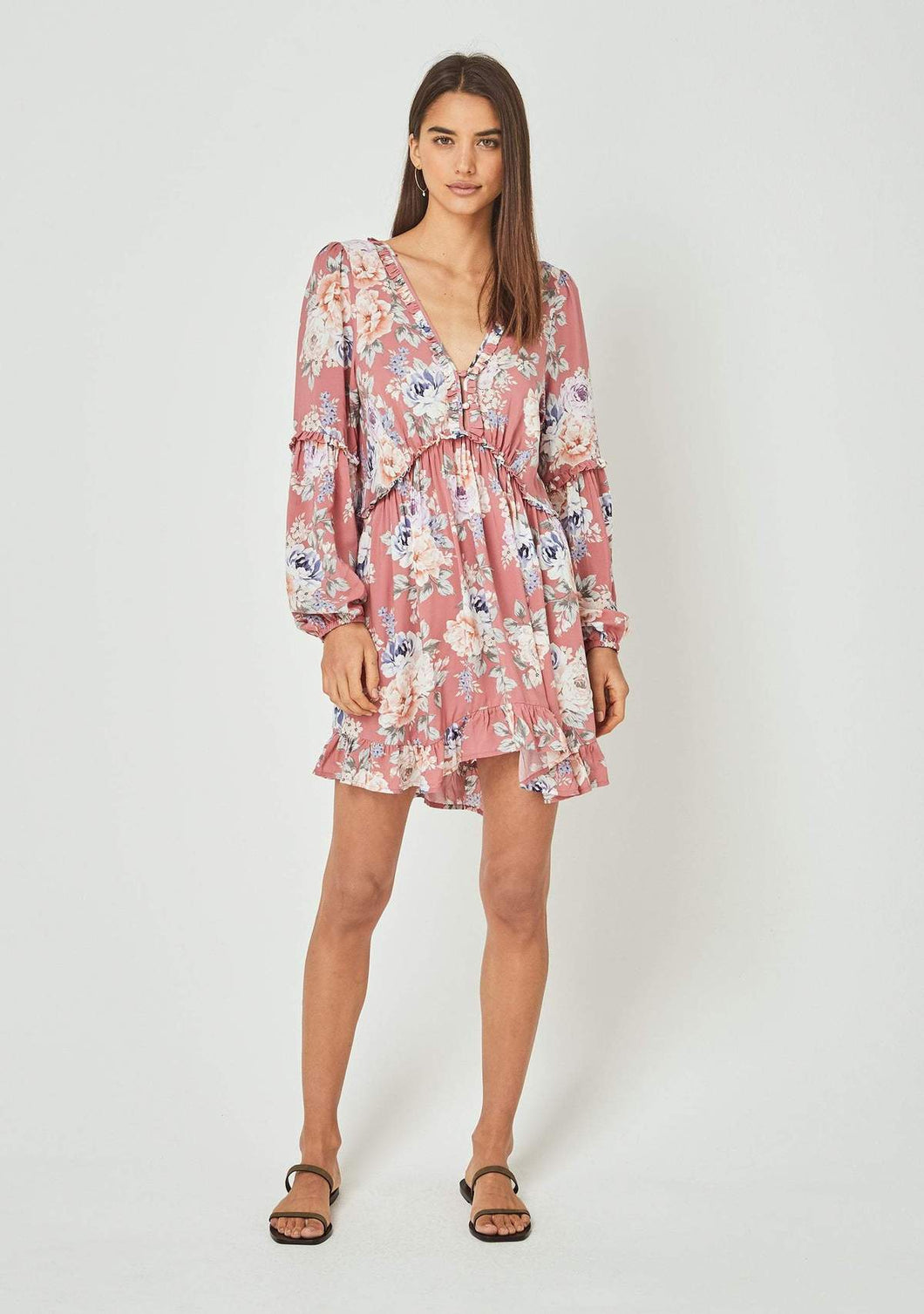 Pascal Dunes Sleeved Mini Dress