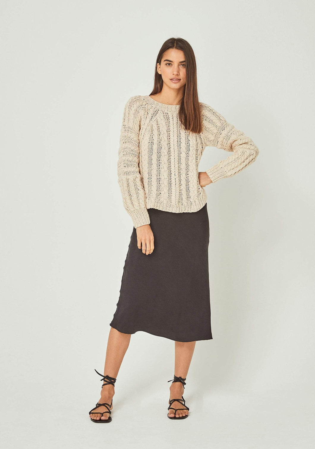 Chloe Cropped Cable Jumper