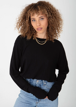 Boyfriend Long Sleeve-Elastic Waist