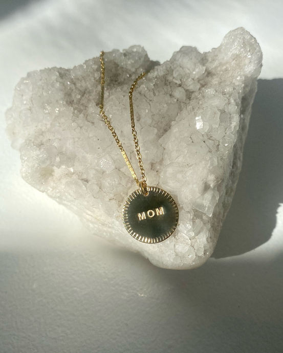 Mom Gold Filled Coin Necklace