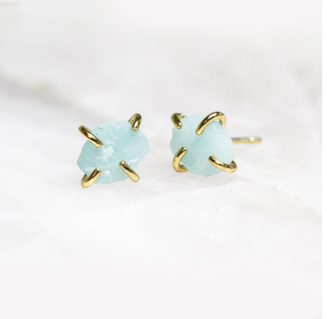 Amazonite Gemstone Prong Earring