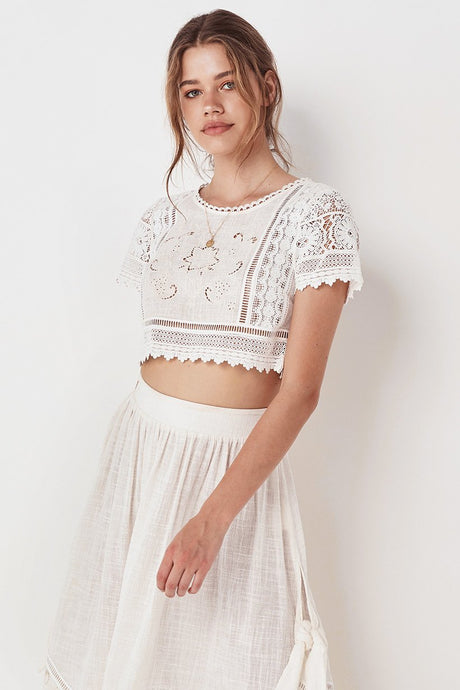 Abigail Lace Cropped Top