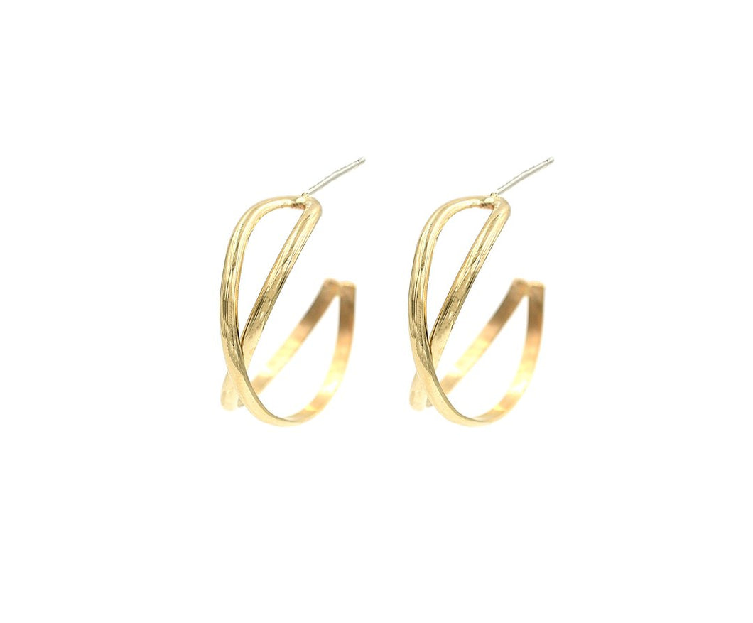 X Gold Filled Hoops