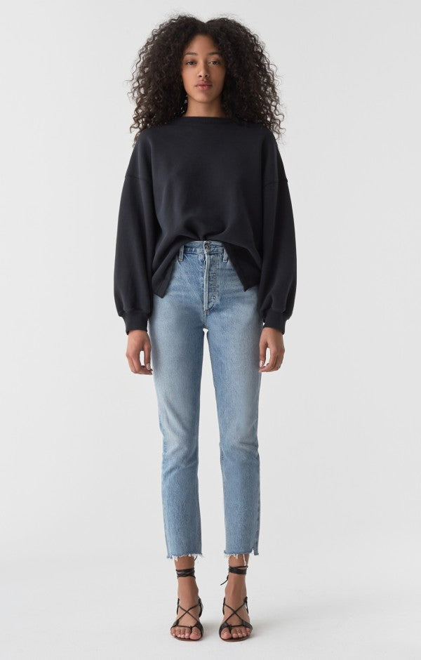 Riley Hi Rise Straight Crop Jean