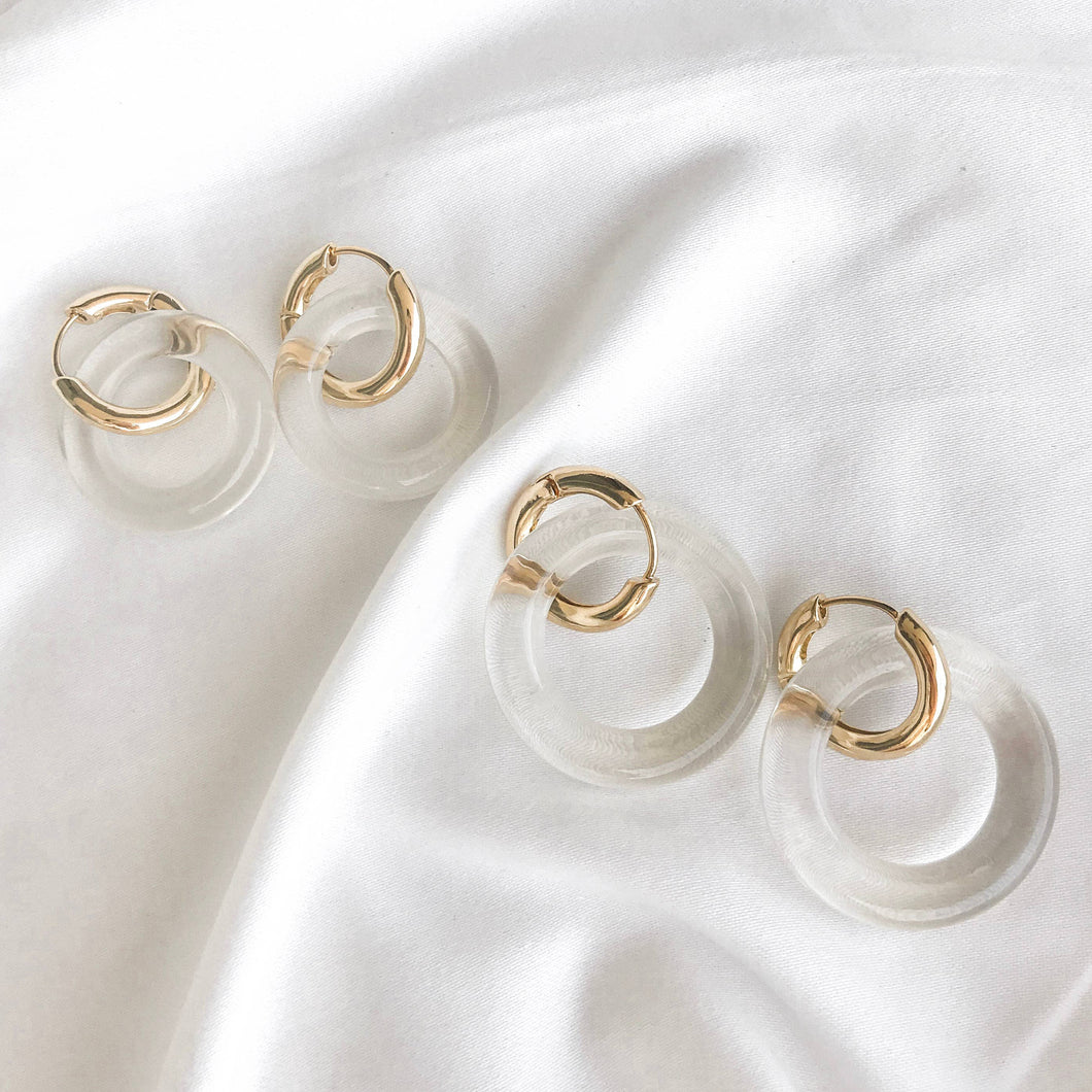 Willa Acrylic Hoops - Small