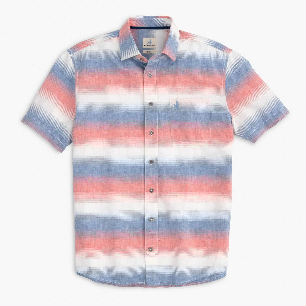 Donnie Hangin' Out Button Down Short Sleeve Shirt