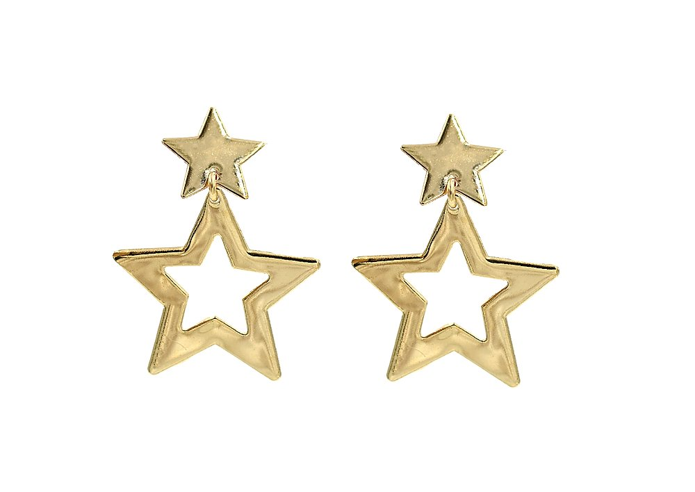 Superstar Gold Plated Earrings