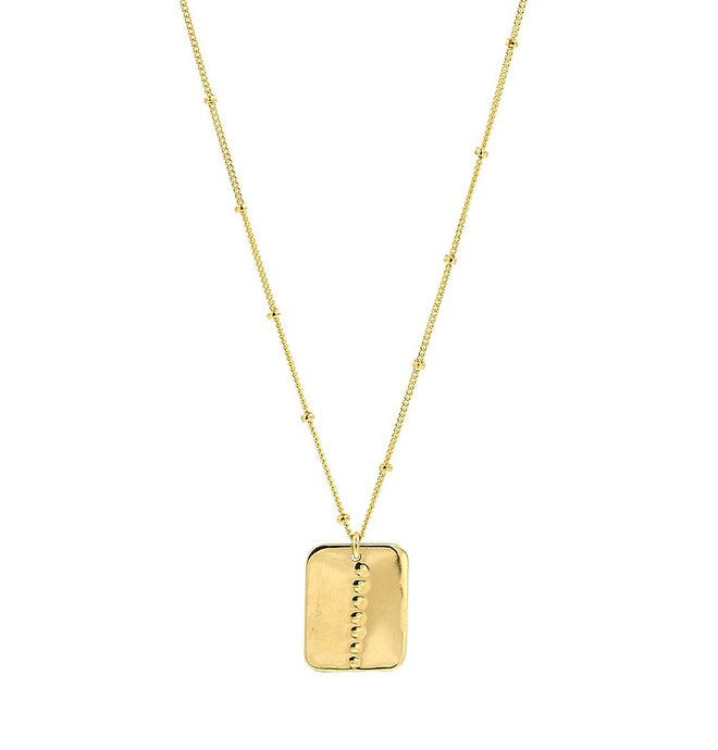 Rectangle Studded Necklace