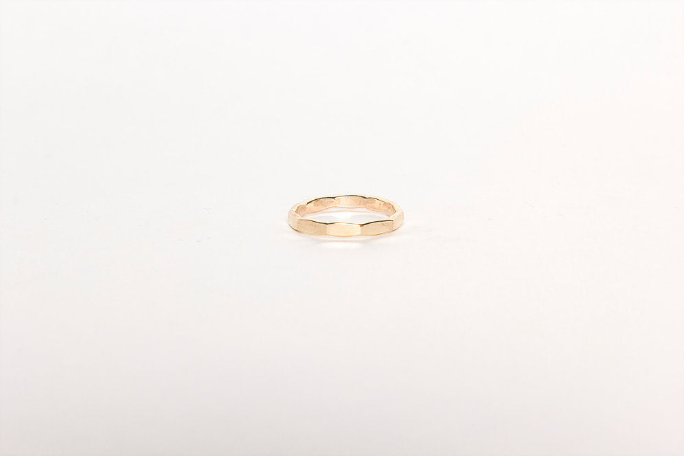 Angle Hammered Band Ring