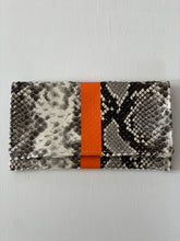 Snake Clutch Orange Stripe